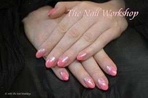 Shellac Pink and Glitter
