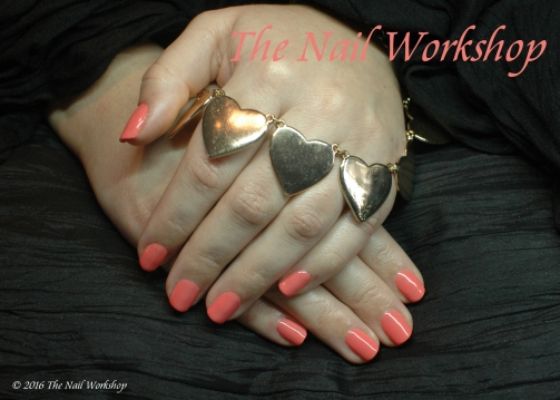 Gel II Peach Blossom manicure